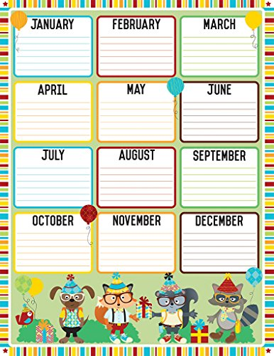 Hipster Birthday Chart - Incentive Sports Chart