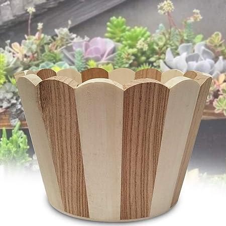 Bclaer72 - Jardinera de madera con forma de bota, jardinera de jardín rústica, macetas de flores, macetas para plantas de jardín, decoración para interiores y exteriores, decoración para la casa, pequeñas plantas:
