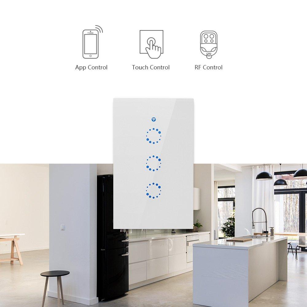 Sonoff T1 US:3 Gang US AU Standard WiFi RF Smart Wall Touch Light Switch - - Amazon.com