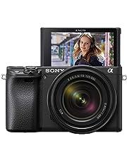 Sony Alpha 6400 E-Mount Systemkamera (24 Megapixel, 4K Video, 180° Klapp-Display, 0.02 Sek. Echtzeit-Autofokus mit 425 Kontrast AF-Punkten, XGA OLED Sucher, M-Kit 18-135 mm Objektiv) schwarz