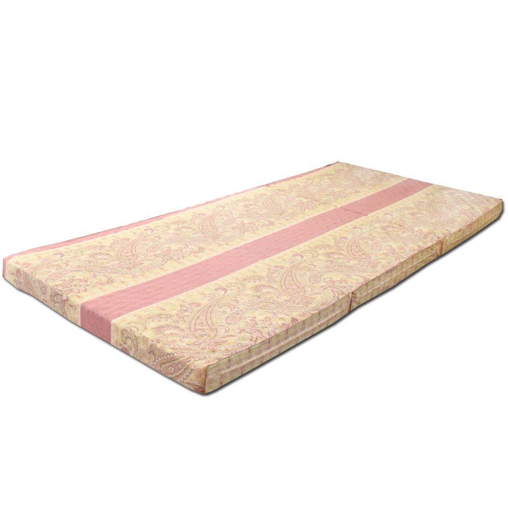 【点で支える体圧分散マットレス】 マットレス シングル 凸凹ウレタン 三つ折り 日本製 ピンク 軽量 腰部しっかりバランスタイプ 91×201cm B00BJE94AI ピンク 1.シングル