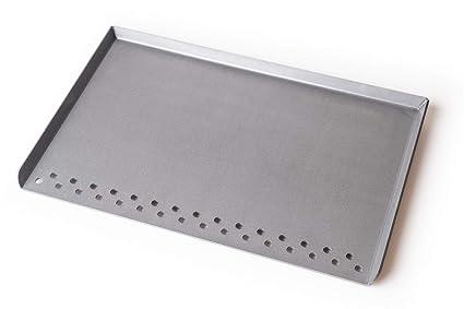 Amazon.com: Parte superior plana de acero para parrilla al ...