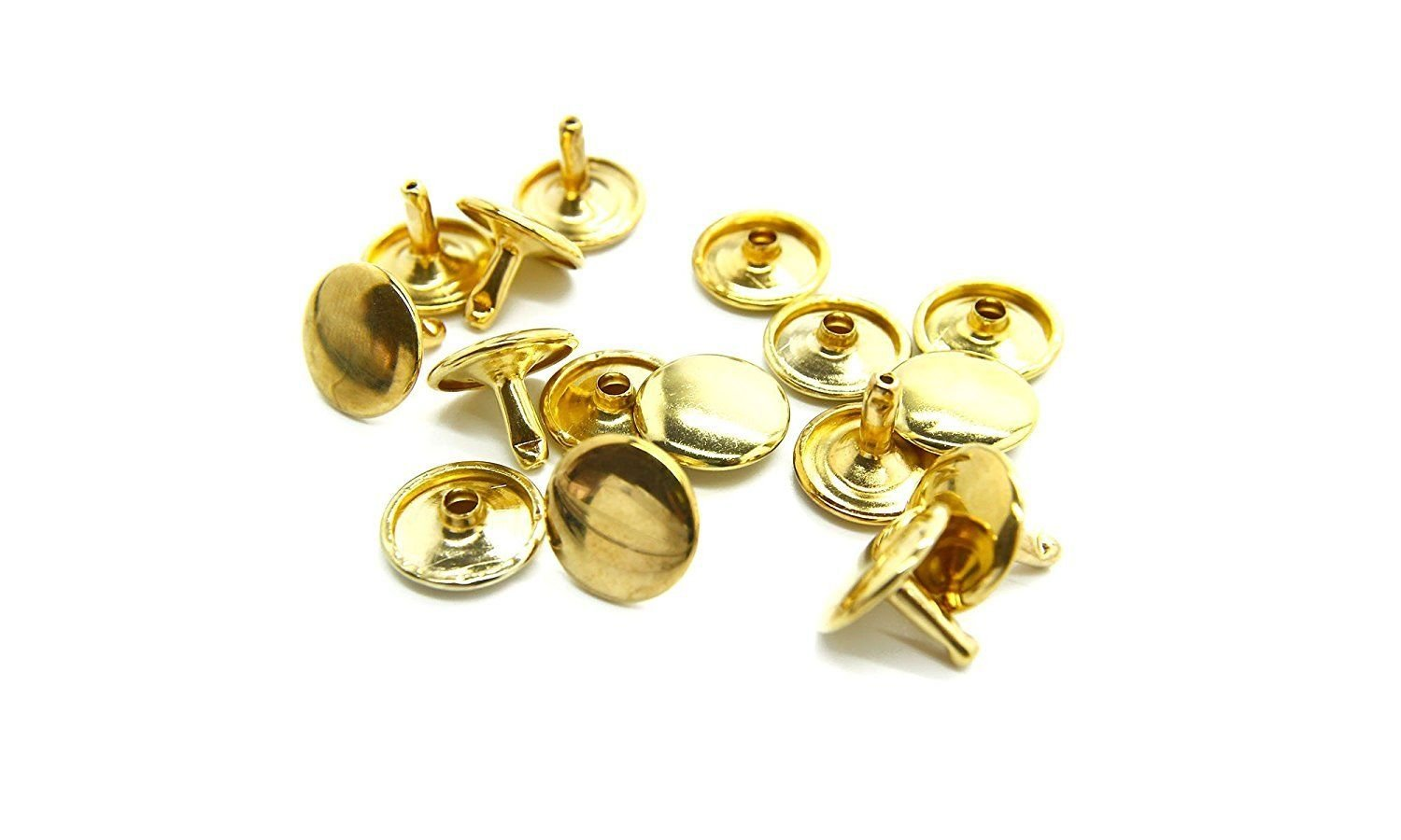 6mm Tubular Double Cap Set of 100 Pieces Rivets Craftsman Shoes Bags Cloths Repair Setting Studs Leather Arts and Crafts by Wedding Decor