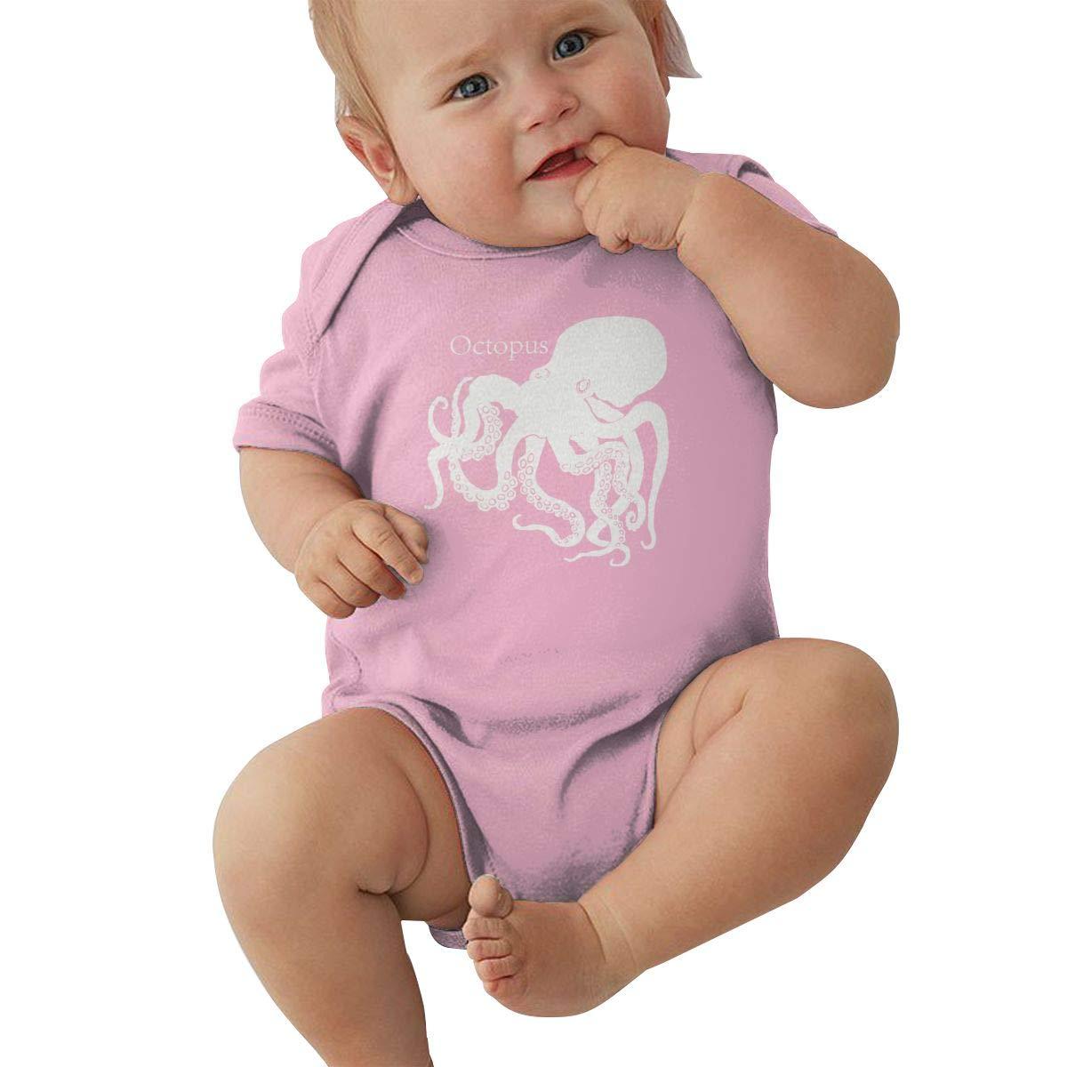 Infant Baby Girl Boy Octopus RomperRomper Jumpsuit Short Sleeve Bodysuit Tops Clothes