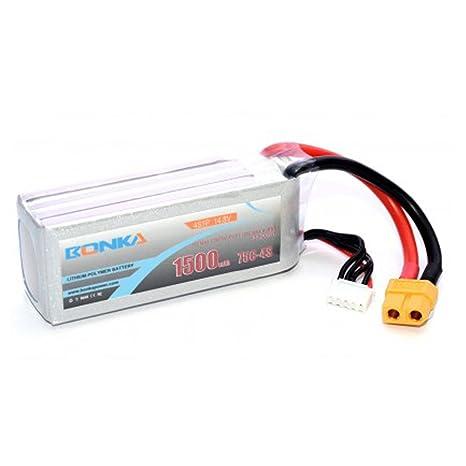 MadridGadgetStore® Batería Bonka 1500 mAh 75C 4S 14.8V Litio para ...