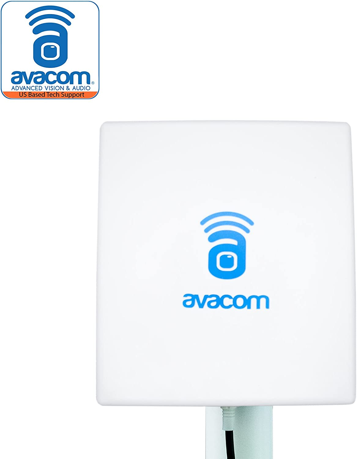 AVACOM Long Range WiFi Extender Panel Antenna for Wireless IP Camera and Router 2.4GHz 14dBi Directional Antenna 802.11b/g/n, RP-SMA Male Connector with Adapter