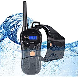 WOLFWILL 100% Waterproof Rechargeable Humane No Shock Remote Dog Training Collar 1980ft Blind Operation with Tone Vibration Light Electric Collar For ALL Size Dogs(22 to 88lbs)