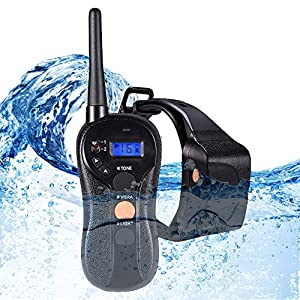 WOLFWILL 100% Waterproof Rechargeable Humane No Shock Remote Dog Training Collar 1980ft Blind Operation with Tone Vibration Light Electric Collar Dogs(22 to 88lbs)