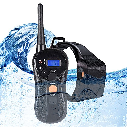 WOLFWILL 100% Waterproof Rechargeable Humane No Shock