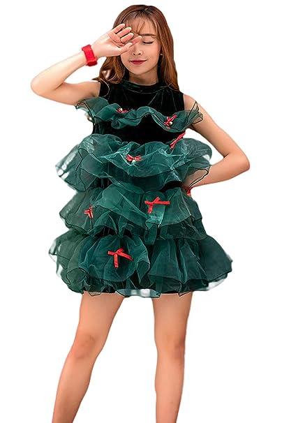 Amazon Com Mutrade Women S Christmas Tree Dress Costume Clothing