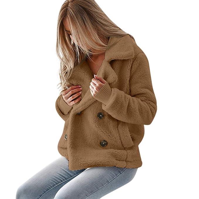 Amazon.com: Amiley - Chaqueta de piel sintética para mujer ...