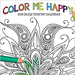 2016 Color Me Happy Daily Desktop Box Calendar TF Publishing 9781624385223 Amazon Books