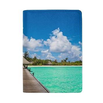 Escena de Playa Tropical Bloqueo Imprimir Estuche para ...