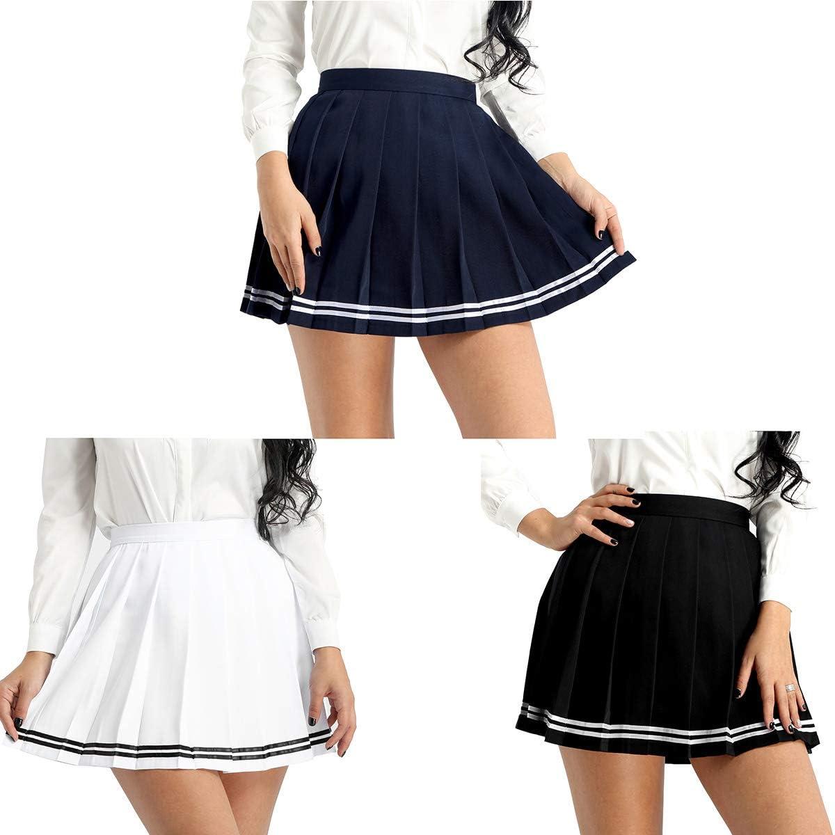 inlzdz Mujeres Kawaii Falda Corta Japones Coreano Británico Falda ...