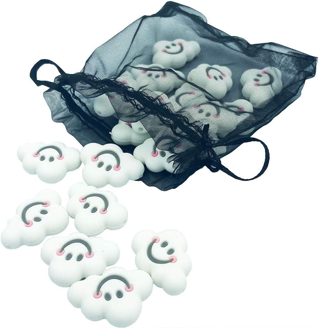 Granos nube de silicona Granos de bricolaje 25mm 20pc Granos sensoriales de silicona para mordedor