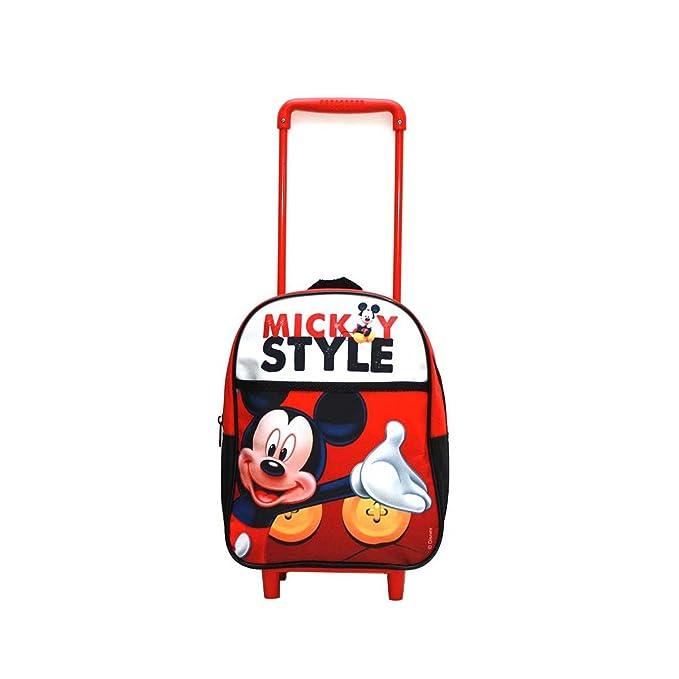 Mochila trolley con ruedas mediana de 34cm de Mickey Mouse: Amazon.es: Juguetes y juegos