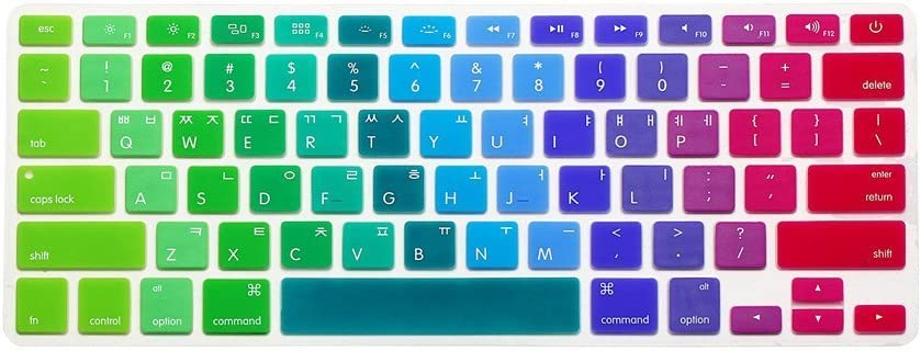 Spanish//English Keyboard Cover Silver HQF Notebook SiliconeSpanish Keyboard Skin Protection Laptop Layout for All Apple MacBook Air Pro 13 15 US Version