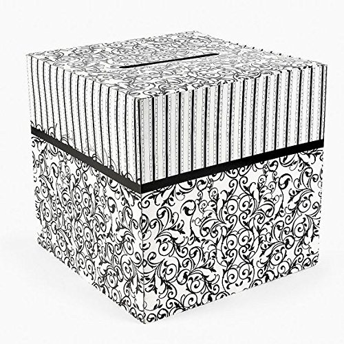 Black & White Wedding Card Money Gift Box Reception Wishing Well