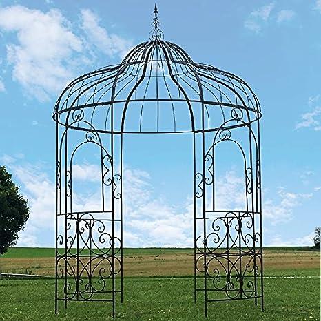 Gran carpa Gloriette – Pérgola (hierro Kiosko de jardín Ø215 cm ...