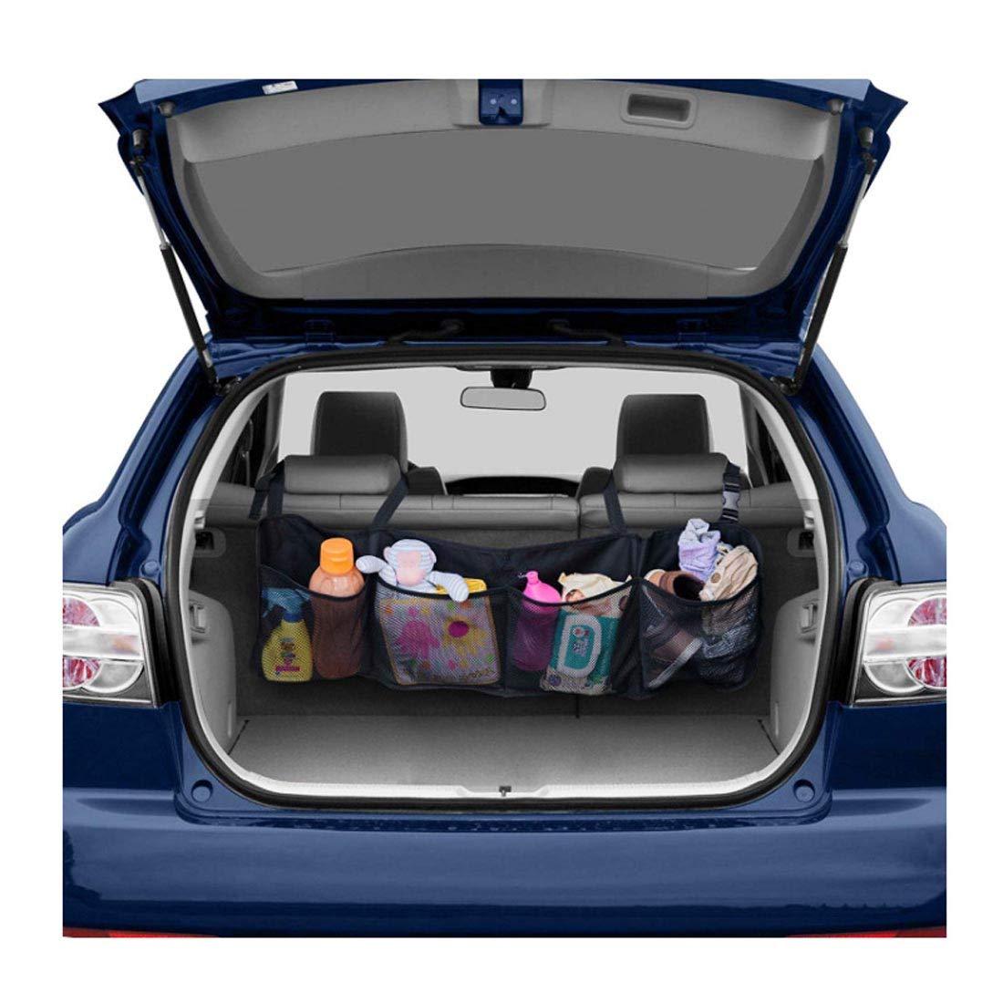 Backseat Net Foldable Cargo Trunk Space Storage Diaper Clean SUV Sedan Car Organizer Toy Trash Car For Net Organizer Linghit