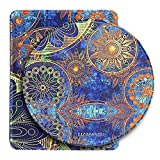 Mouse Pad Set of 2, Cheliz Premium Quality Pattern Anti Slip Computer PC Mouse Mat Soft Comfort Feel Finish(Blue Flower)