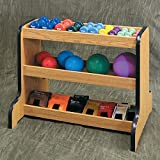 38.5'' x 26'' x 30'' Natural Color 3-Tier Weight Rack, used for Physical Therapy Weights - CL-5142