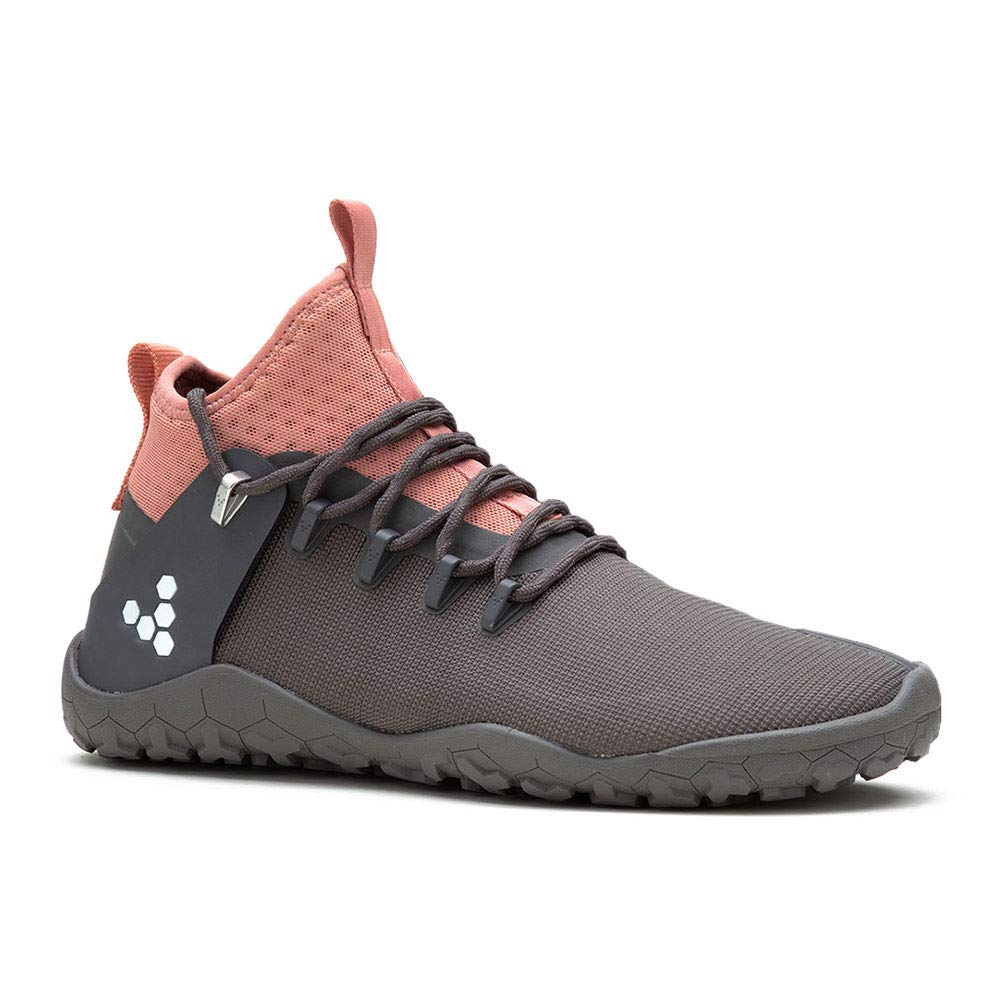 Grey Pink Vivobarefoot Womens Magna Trail Textile Synthetic Trainers