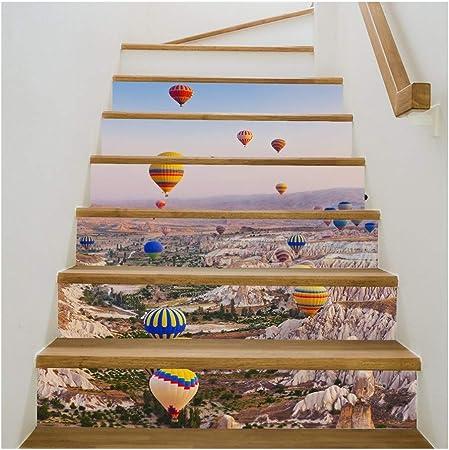 Calcomanía de escalera autoadhesiva 3D Waterfall Mountain - Calcomanías for escaleras Calcomanías Papel tapiz for paredes Calcomanías for escaleras de baño Cocina Pegatinas de escalera extraíbles Deco: Amazon.es: Hogar