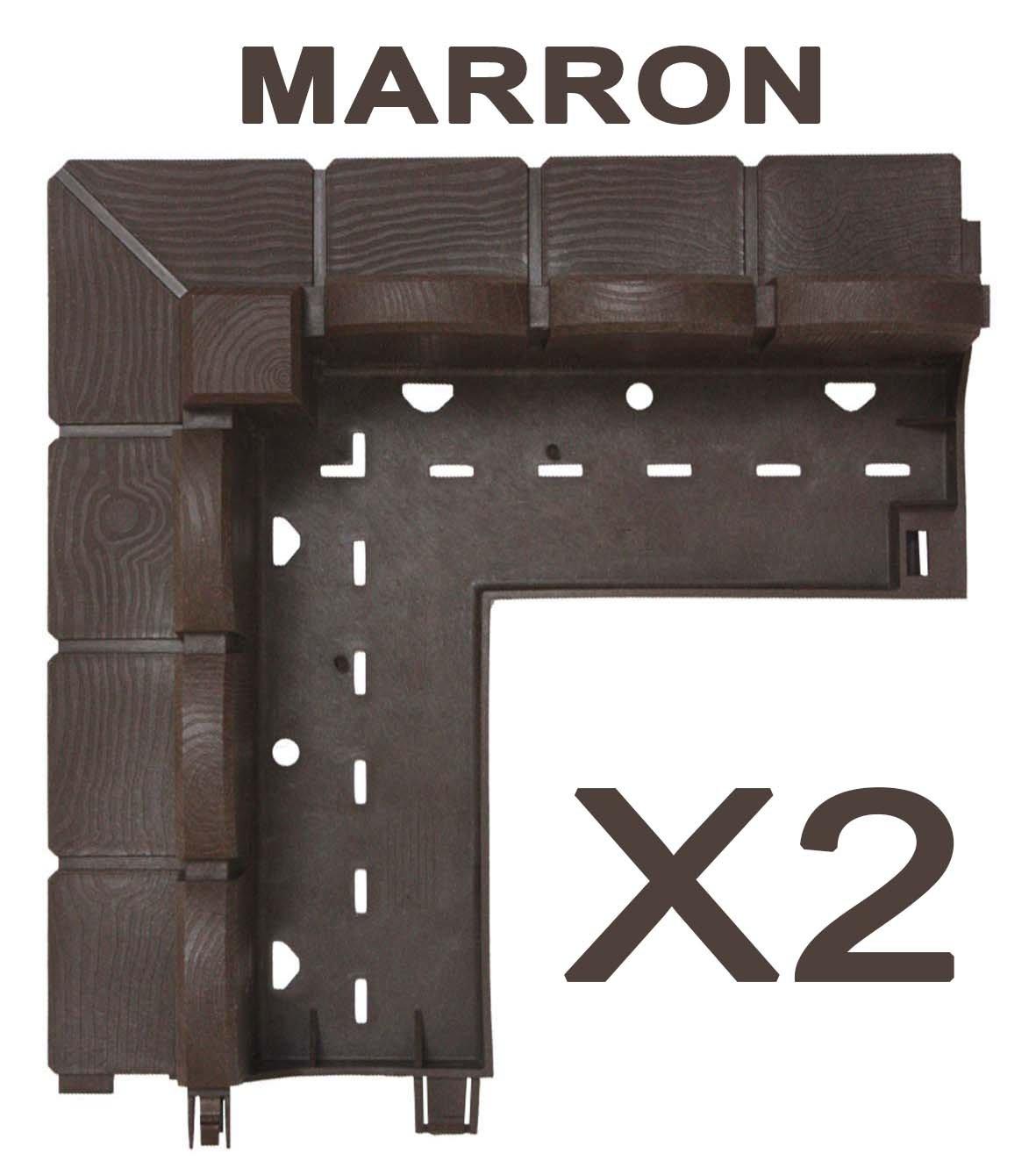 greenparck C0400M Lot de 2 bordures Vendu /également par lot de 4 et 8 En r/ésine composite MARRON
