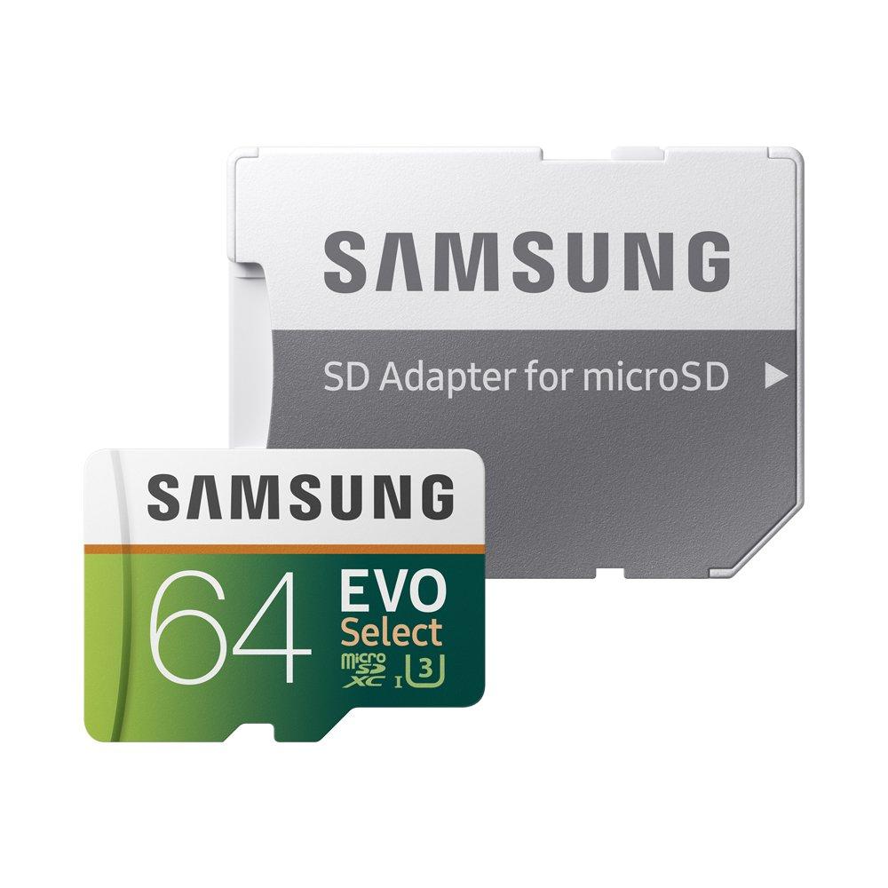inkl. SD Adapter Samsung EVO Select microSDXC 256 GB Speicherkarte bis zu 100 MB//s UHS-I U3