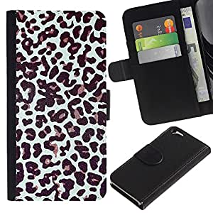 UberTech / Apple Iphone 6 4.7 / Cheetah Fur Pattern Dots Animal Fashion / Cuero PU Delgado caso Billetera cubierta Shell Armor Funda Case Cover Wallet Credit Card