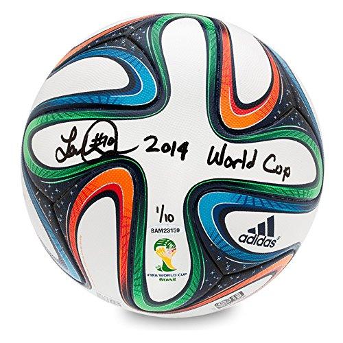 LANDON DONOVAN AUTOGRAPHED & INSCRIBED ADIDAS BRAZUCA 2014 FIFA WORLD CUP MATCH BALL UDA LE (Inscribed Cup)