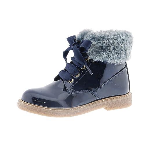 CLARYS Zapatos Niña Botas Botines 8649 Azul 35: Amazon.es: Zapatos y complementos