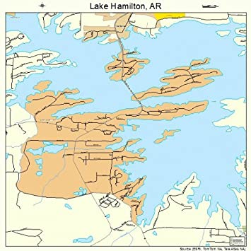 Amazoncom Large Street Road Map of Lake Hamilton Arkansas AR