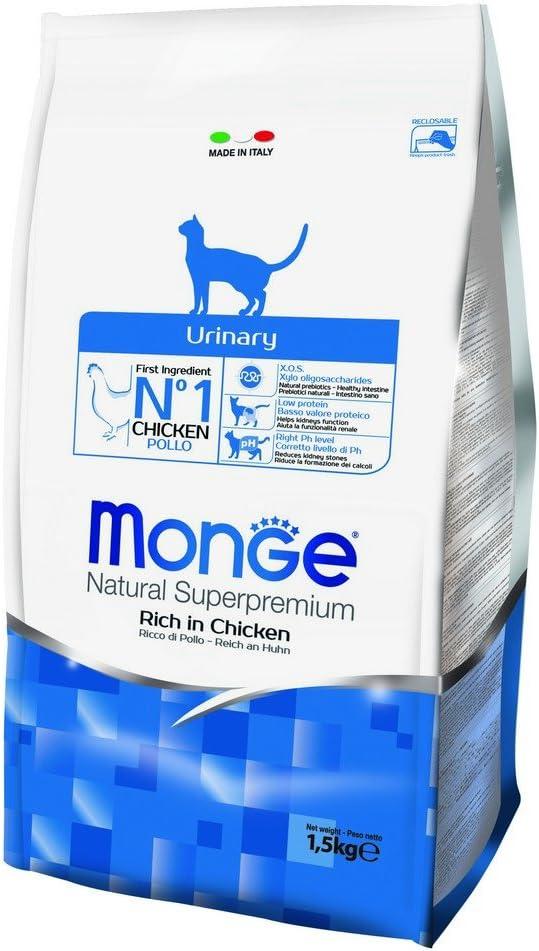 MONGE Natural Superpremium Cat Urinary - Alimento seco para Gatos