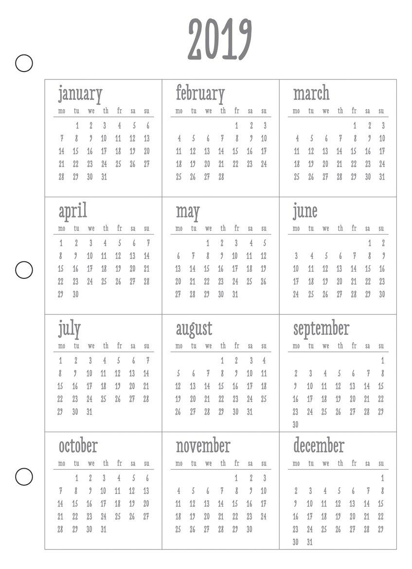RAYHER A5Aperçu de l'année 2018pour 'My Planner' système d'agenda