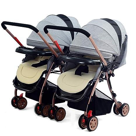 WHYDIANPU Los cochecitos de bebé gemelos se pueden sentar y ...
