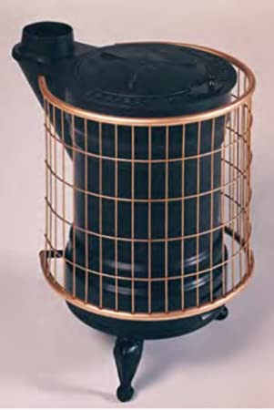 Panadero M288844 - Estufa de leña fundidad negra y oro redonda: Amazon.es: Hogar
