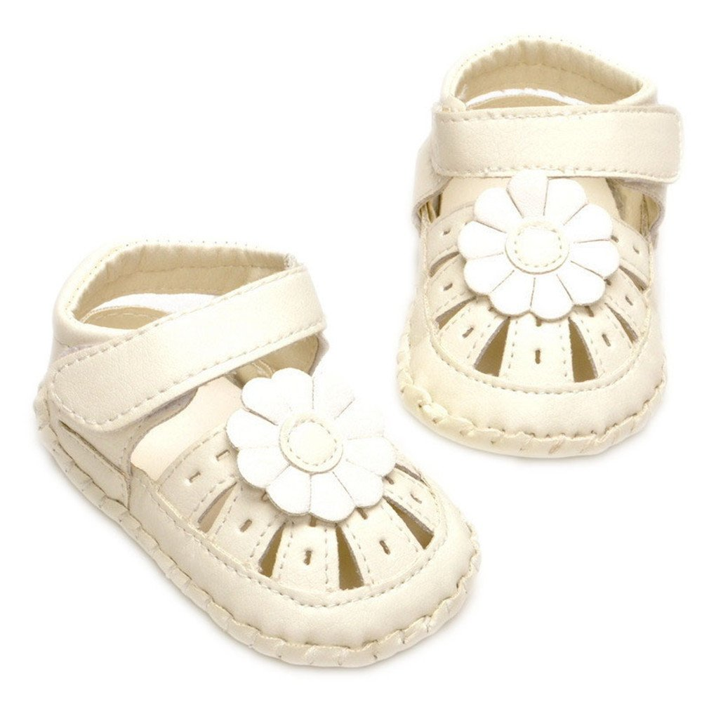 Child Baby Sandals Baby Shoes Hollow Out Neutral Sandals 1-3 Years Old White 13-18 Months