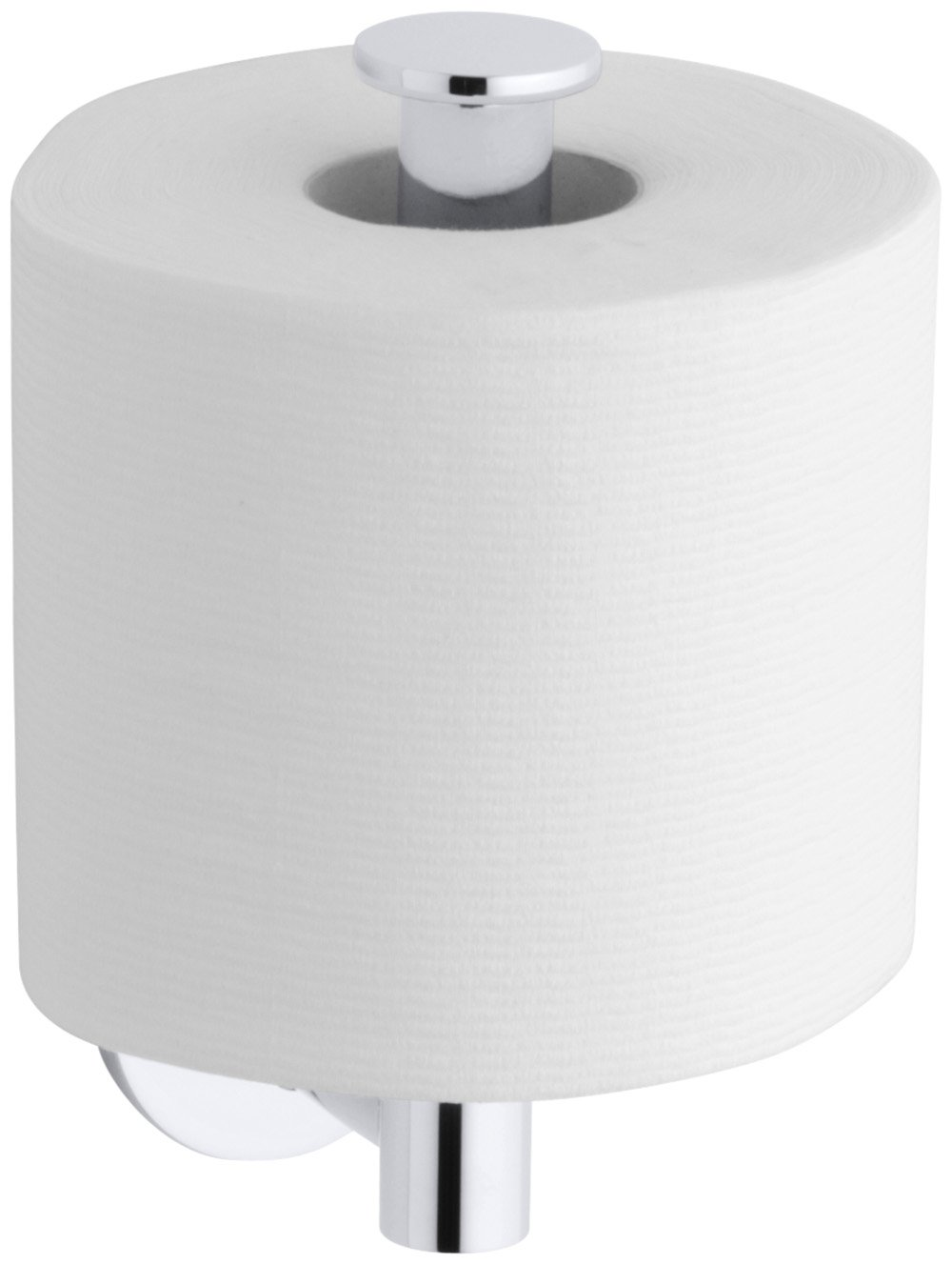 KOHLER K-14459-CP Stillness Vertical Toilet Paper Holder, Polished Chrome