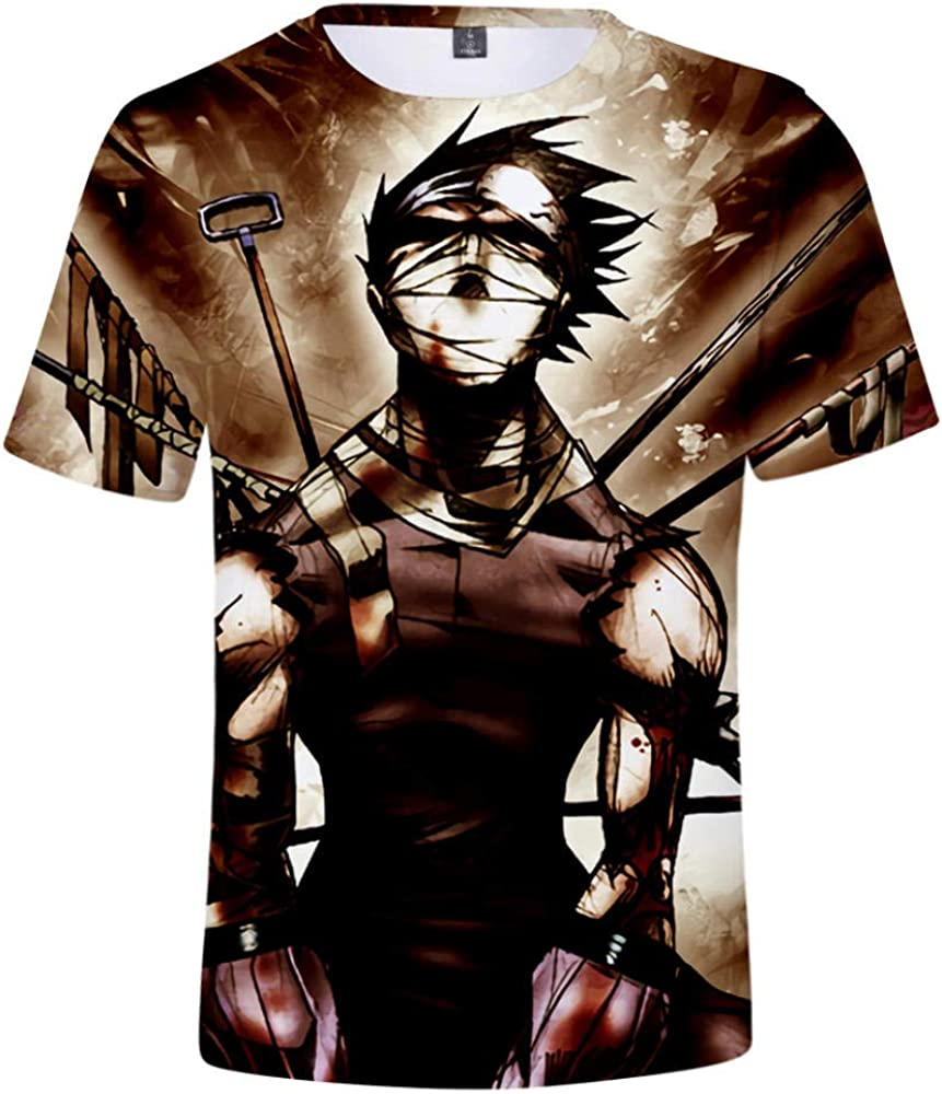 TSHIMEN Camisetas Hombre One Piece Naruto Camiseta 3D Hombre/Mujer Moda Caliente Animación Imprimir Camiseta de Hombre Ropa marrón: Amazon.es: Ropa y accesorios