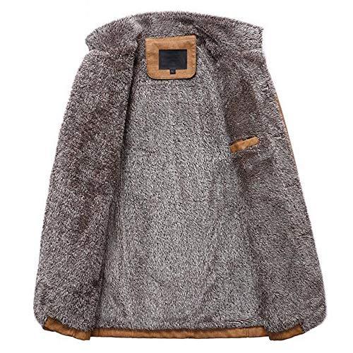 Pour Vestes Automne Kaki Homme Cuir Hommes En D'hiver Manteau Thermal Ihaza Button Hiver xI7dFqwnH