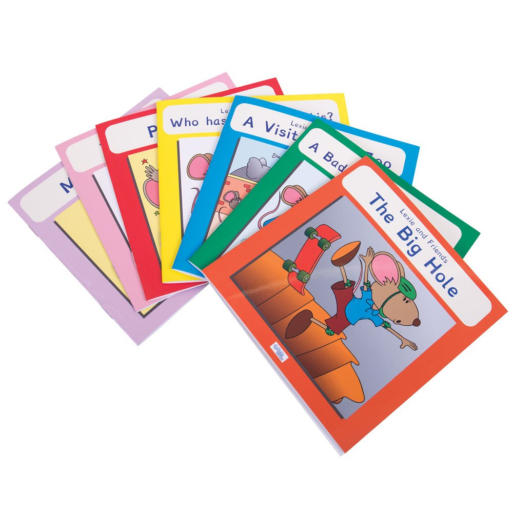 Colour book bands ks1 - Colour Book Bands Ks1 Lexie Mouse Phonic Coloured Book Band Pack Of 7 Amazon Co
