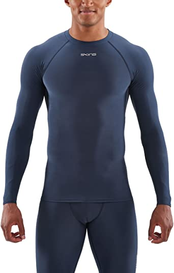 Skins DNAmic Force - Camiseta térmica de Manga Larga para Hombre, Color Azul Marino: Amazon.es: Ropa y accesorios