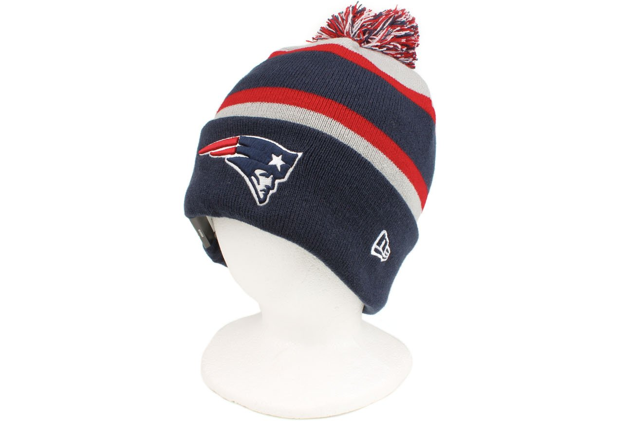 d1e5f941354 Amazon.com   The New Era New England Patriots NFL On Field Sport Knit  Winter Hat Navy Blue Red Grey Size One Size   Sports Fan Beanies   Sports    Outdoors
