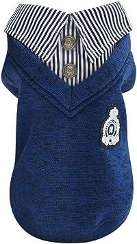 Xmiral Vestiti del Cappotto del Maglione di Amore Caldo di Inverno del Gatto del Cane di Animale Domestico Abbigliamento per Cani e Gatti Grigio XL
