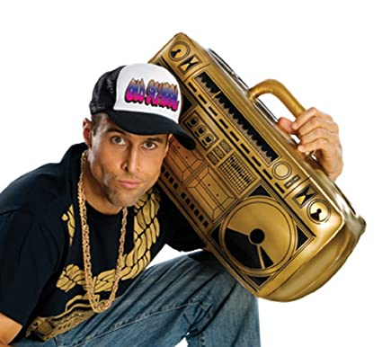 e0e89ab458f Amazon.com   GOLD Old School Inflatable Boom Box Ghetto Blaster Prop    Everything Else