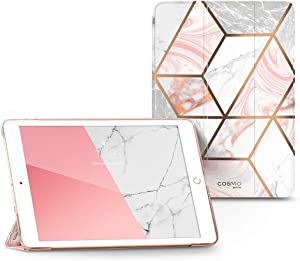 i-Blason Cosmo Lite Case for New iPad 8th/7th Generation, iPad 10.2 2020 2019 Case, Slim Trifold Stand Smart Case Translucent Hard Back Protective Cover with Auto Sleep/Wake (Marble)