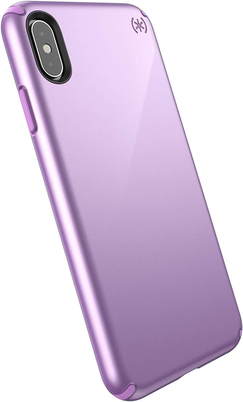 Speck Products Presidio Metallic iPhone Xs Max Case, Taro Purple Metallic/Haze Purple