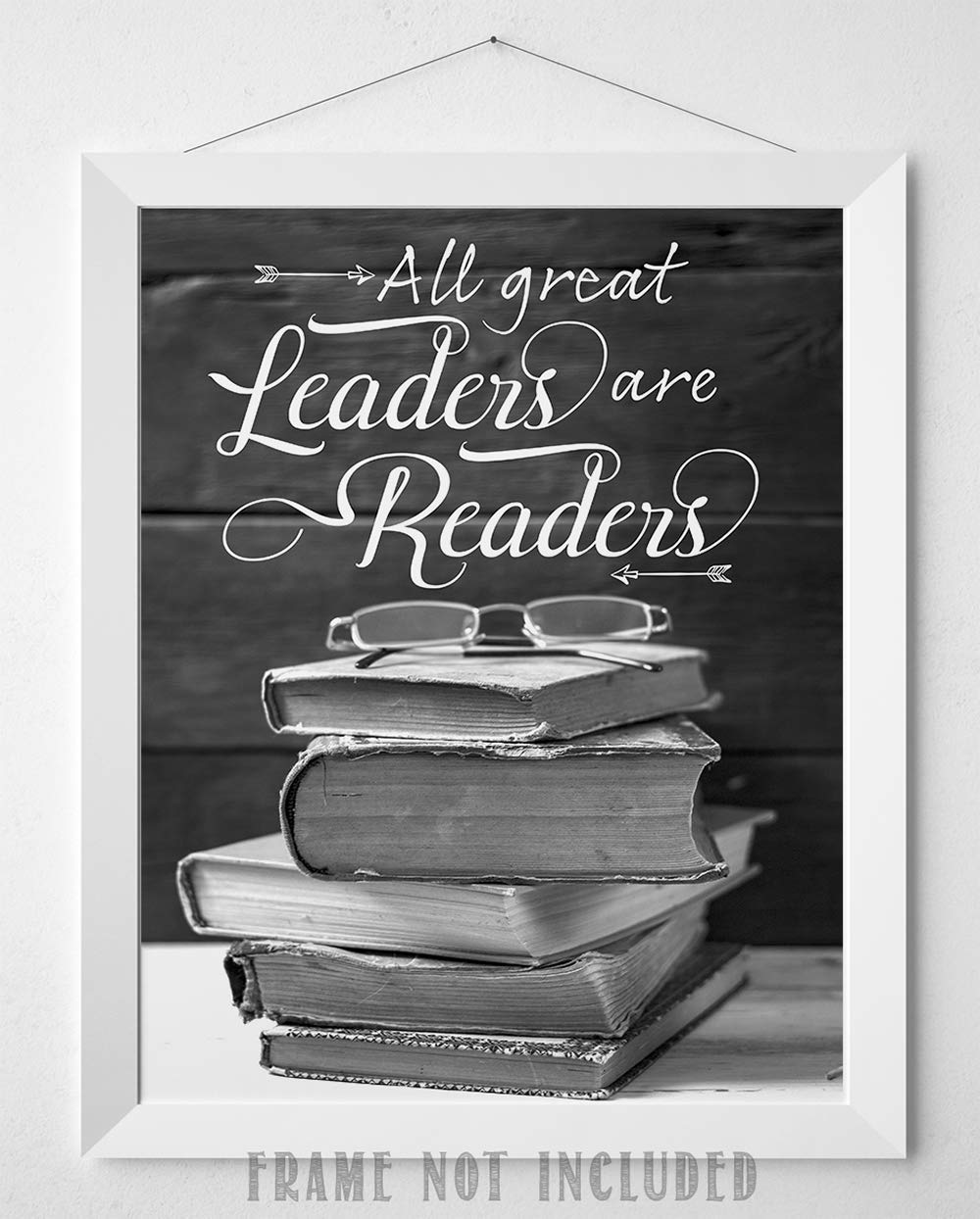 All Great Leaders Are Readers Great Library Decor 11x14 Unframed Art Print